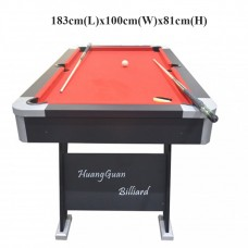 20381 6 ft. Full Size Billiard Table Pool Table