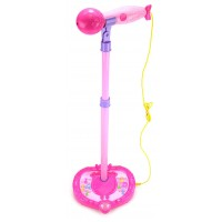 Dazzling Star Children's Kid's Toy Stand Up Microphone Play Set w/ Microphones, Built In Speaker, Adjustable Height