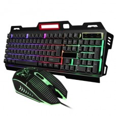 CMK 198 USB Rainbow LED Backlit Gaming Keyboard and Mouse Combo