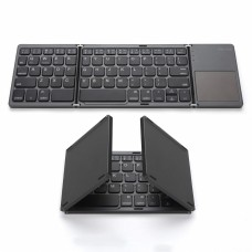 Foldable Bluetooth Keyboard with Touchpad, Mini Pocket Size BT Wireless Keyboard for Android, iOS, Windows, PC, Tablet
