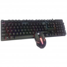 CMK 188 Rainbow LED Backlit Gaming Keyboard and Mouse Combo