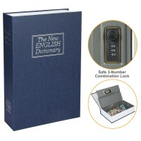 New English Dictionary Book Safety Box with 3-Digit Combination Lock