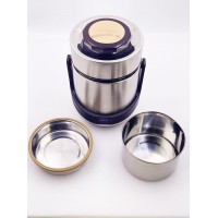 3-Tier Stainless Steel Insulated Thermos Lunch Box Container - 1.6L
