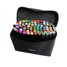 80 Colours Dual Tip Art Markers Sketch Brush Pen for Drawing, Animation, Design, Sketching with Carrying Bag