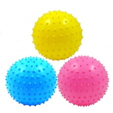 3 PCs Toytexx High Quality PVC Inflatable Bouncing Fitness Massage Ball - Random Color