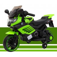 Kids 6V Ride On Electric Motorbike w/ Training Safety Wheel