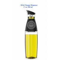 Press and Measure Oil & Vinegar Dispenser 17 oz/ 500 ml