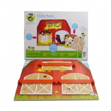PBS 3-Layer Puzzle Playset Explore the Barn