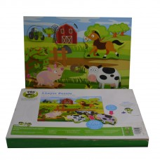 PBS 3-Layer Puzzle Playset Explore the Farm,Pack of 1