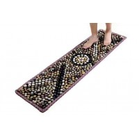 ToyTexx Natural Pebble Stone Massage Mat for Home Indoor Outdoor Healthcare Foot Massage with Carrying Bag