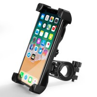Adjustable Motorcycle Bicycle Bike E-Scooter Phone Holder Handlebar Mount
