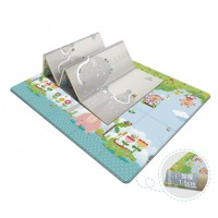 Baby Double-Side Folding Non-Toxic Non-Slip Reversible Waterproof XPE Playmat with Carrying Bag - D14