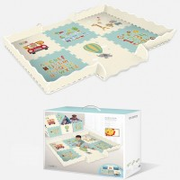 Baby PlayMat with Fence 20PCS Interlocking Foam Floor Tiles 2M x 1.5M - P2