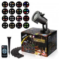 LED Projector Light with 16PCS Switchable Lens Stage Lighting Lamp Landscape Projector for Christmas, Party.