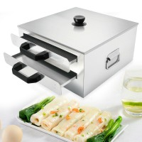 2-Layer Stainless Steel Rice Noodle Roll Vermicelli Steam Machine