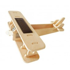 Roboti RoboTime: Solar Energy Drived - Natural Wooden Aircrafts - Biplane - P220me P220 Biplane