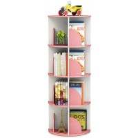 4 Tier 360° Rotating Stackable Shelves Bookshelf Organizer