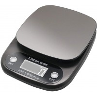 Digital Kitchen Scale Stainless Steel 22 lb 10kg Max with Led Display and Tare Function