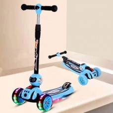 Toytexx Foldable Children Kids Kick Scooter with LED lights on Body And Wheels