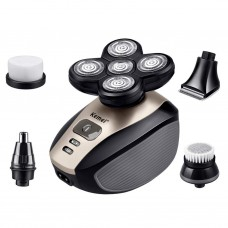 Five In One Electric Shaver with Five Cutter Shaver, Face Wash, Nose Hair, Trimmer Hair and Clipper Shaver