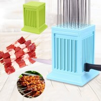 49-Hole Wear Meat String Machine BBQ Skewer Kabob Maker Kit