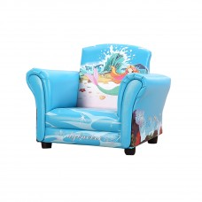 Kids Children Cartoon Mermaid Armchair Sofa