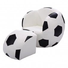 Kids Children Soccer Theme Chair Armchair Sofa with Ottoman Furniture Set
