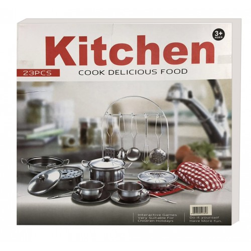 Children S High Quality 23 Pieces Stainless Steel Kitchen Set Pots