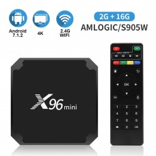 Android 7.1.2 Tv Box X96 Mini Android Tv Box with 2GB RAM 16GB ROM Smart Tv Box S905W Supporting 4K Full HD Android Box 2.4GHz WiFi
