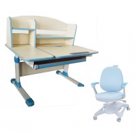 Children Kids Ergonomic 1M Study Desk with Adjustable Swivel Chair Set