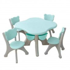 Toytexx Children's Kids Solid Table and 4 Chair Set