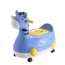 Kids 2-in-1 Potty Training Seat Ride-On Toddler Toilet Trainer Scooter Toy for Boys Girls-8828
