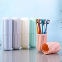 10 Set Portable Travel Toothbrush Set with Carrying Case Japanese Wide Head Soft Bristle Toothbrush (Random Colour)