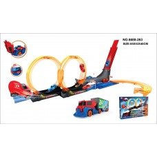 Power Racing Track Games - 21 Piece High Speed Race Car Track Set-6688-263