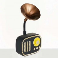 Retro Trumpet Style Bluetooth Speaker Wireless Stereo Subwoofer Music Box Hifi Speakers with Mic FM radio TF for Phone