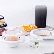 Keepeez 5-Piece Vacuum Sealing Food Cover Saver Lid Set