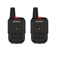 Wireless Mini Walkie Talkie 16-Channel Two Way Radio Transceiver Long Distance 3km - 2 Pack