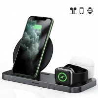 2020 Three in One Wireless Charging Station for Phone, Apple Watch (Series 1 - 5) and AirPods Pro