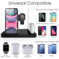 2020 Four in One Wireless Charging Station for Phone, Apple Watch (Series 1 - 5),Apple Pencil and AirPods Pro