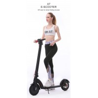 X7 10 Inch  E-scooter Off Road Air Wheel Easy Fold-n-Carry Design 350W  25KM/h Electronic  Scooter