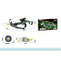 Children Military Toy Crossbow Set With Target and 3 Arrows