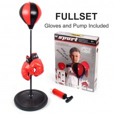 Outdoor Children Boxing Set , Punching Ball Bag with Gloves and Adjustable Stand
